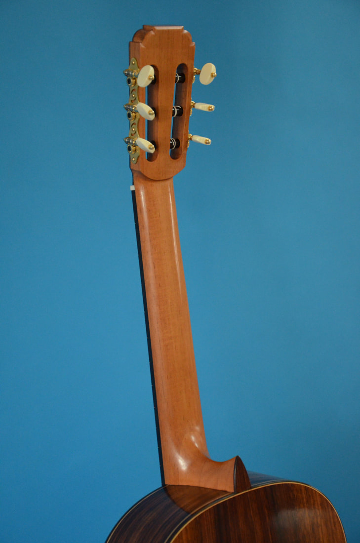 Richard Arnold Guitars Classical Guitar back of neck